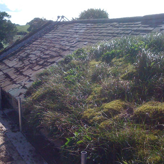 De-turfing a Westmorland slate roof